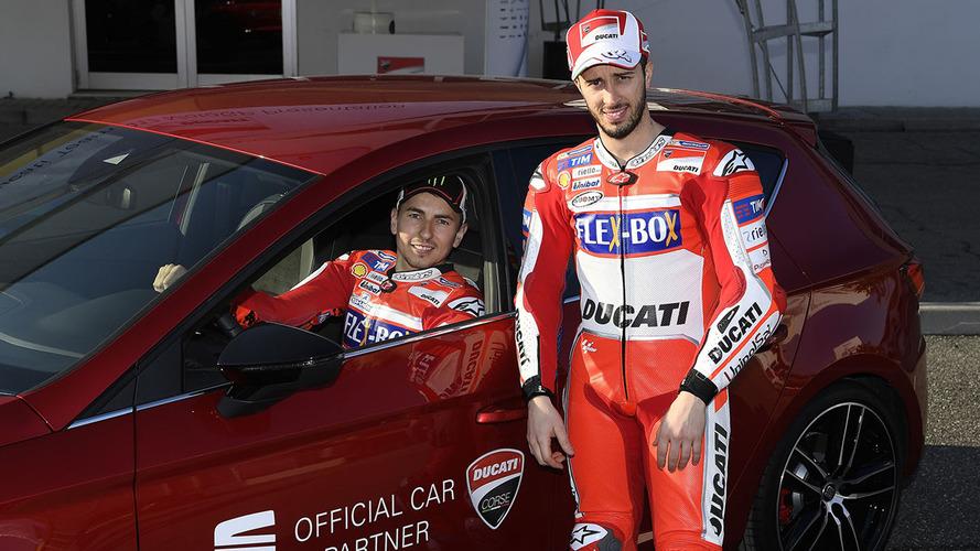 Jorge Lorenzo y Andrea Dovizioso, embajadores de SEAT