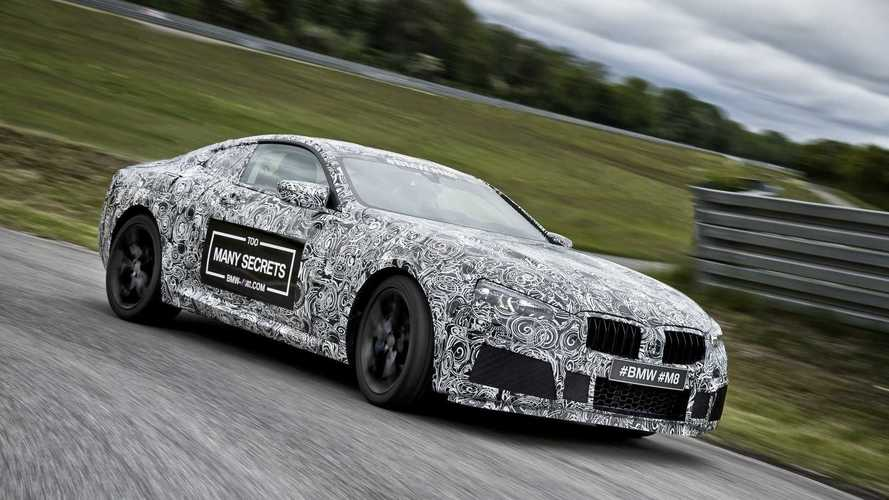 BMW M8 kamuflajlı teaser