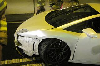 Lamborghini Gallardo Crashes in an Austrian Tunnel