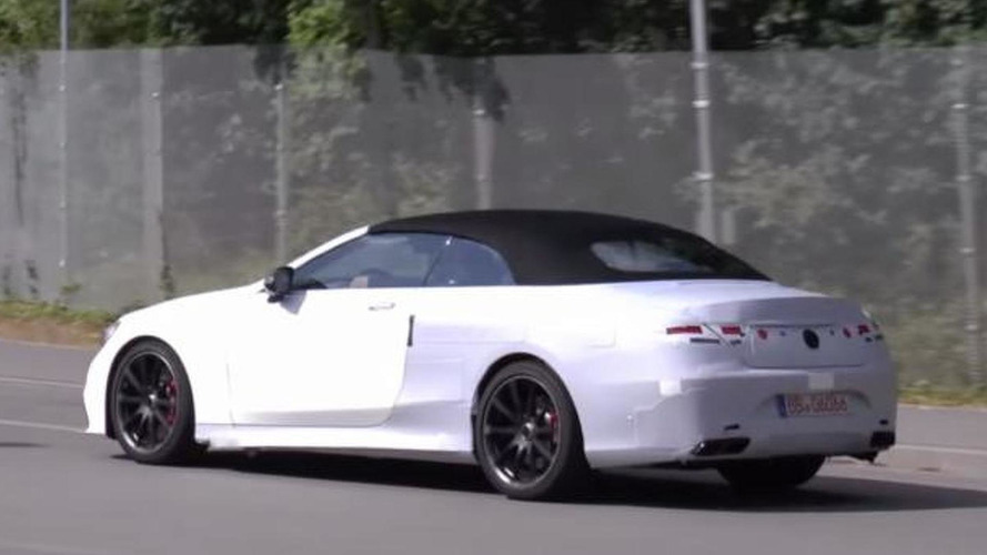 Mercedes-AMG S63 Cabriolet spied briefly during final testing [video]