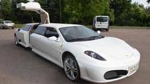 Peugeot 406 transformed into Ferrari limo