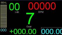 McLaren PCU-8D steering wheel LCD display module