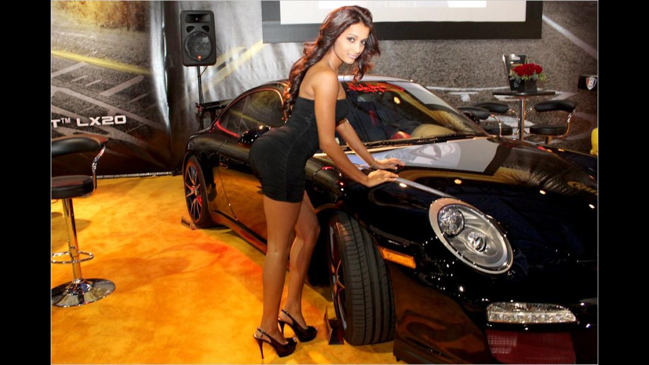 Ein knackiger Hintern und große Kulleraugen: Ein richtig heißer Schlitten, dieser Porsche
