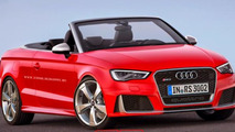 Audi RS3 virtually transformed into sedan, convertible and 3-door hatch