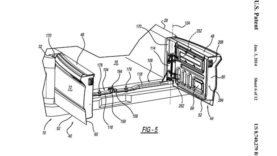 Ram Two-Way Split Tailgate Patent Drawings
