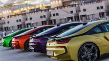 BMW i8 colorées Abu Dhabi