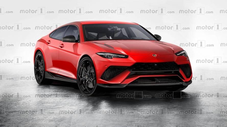 Lamborghini'nin dört kapılı sedanı yorumlandı