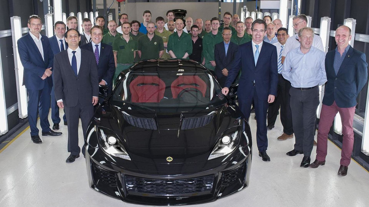 First production Lotus Evora 400