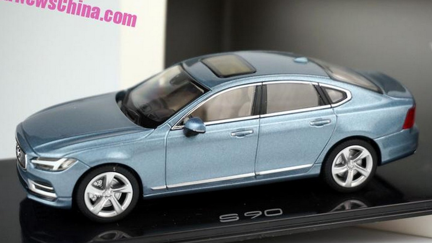 Volvo S90 Liquid Blue licensed scale model returns in new higher quality images