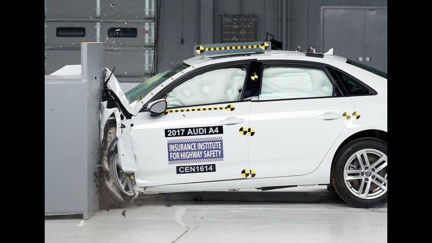 Novo Audi A4 ganha prêmio Top Safety Pick+ em teste de colisão
