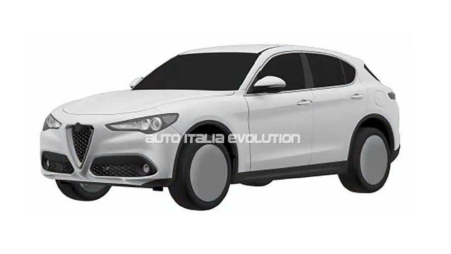 Standart Alfa Romeo Stelvio'nun patent resimleri yayınladı