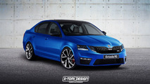 Skoda Octavia RS facelift render