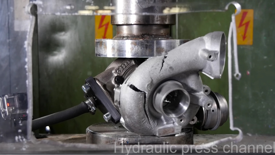 What Happens When a Turbocharger is Crushed While It's Spinning?
