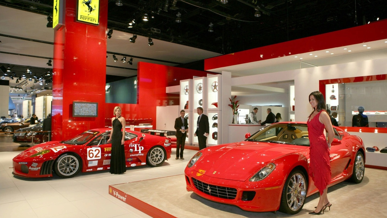 Ferrari stand at Detroit 2007