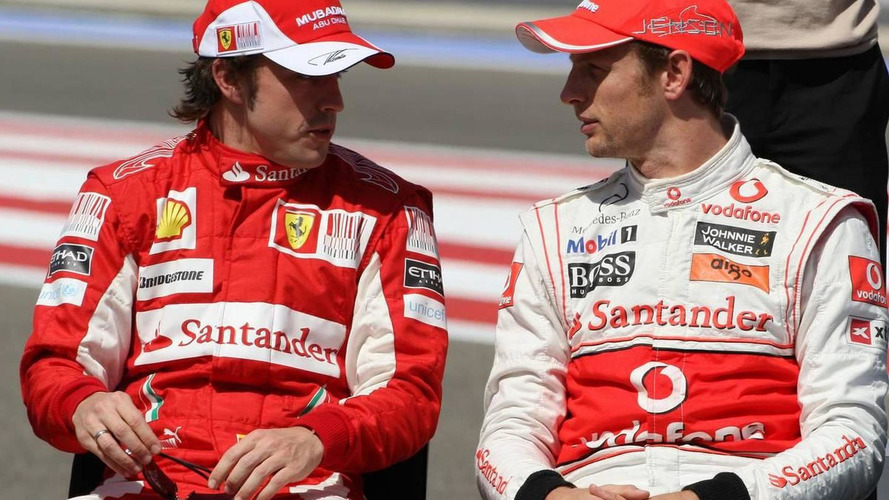 Alonso, Button, keep eyes on Red Bulls