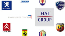 Fiat and PSA-Citroen group logos