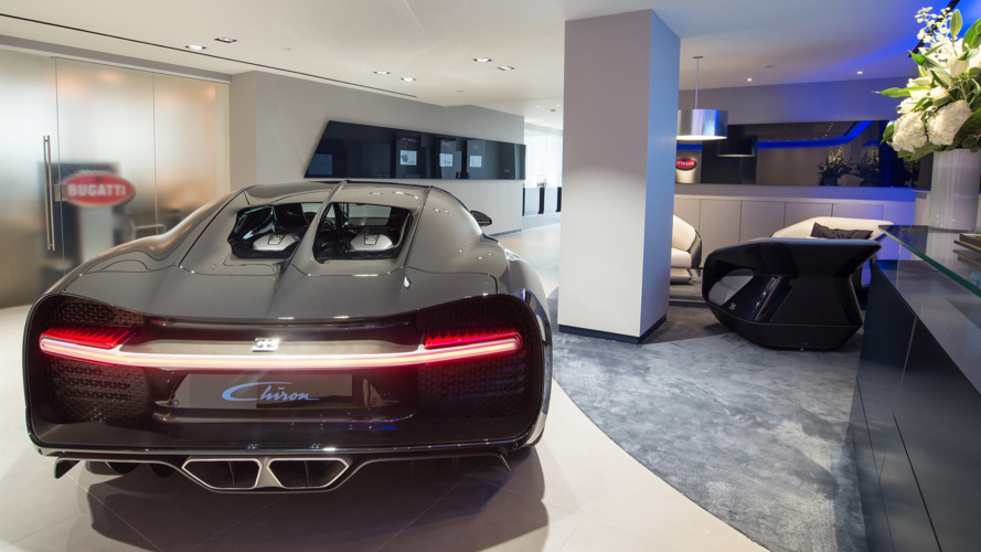 Bugatti opens spectacular U.K. showroom for Chiron