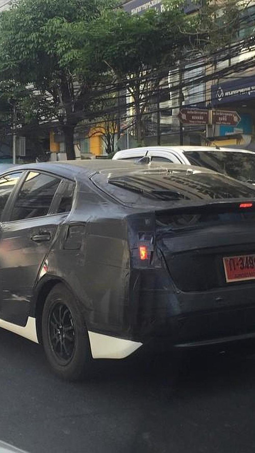 2016 Toyota Prius spied heavily camouflaged
