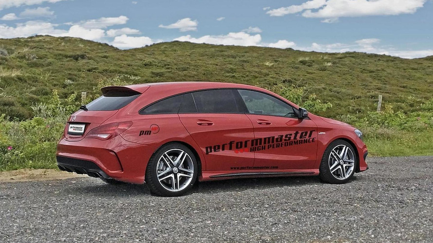 Mercedes-Benz CLA 45 AMG Shooting Brake upgraded to 410 PS by performmaster