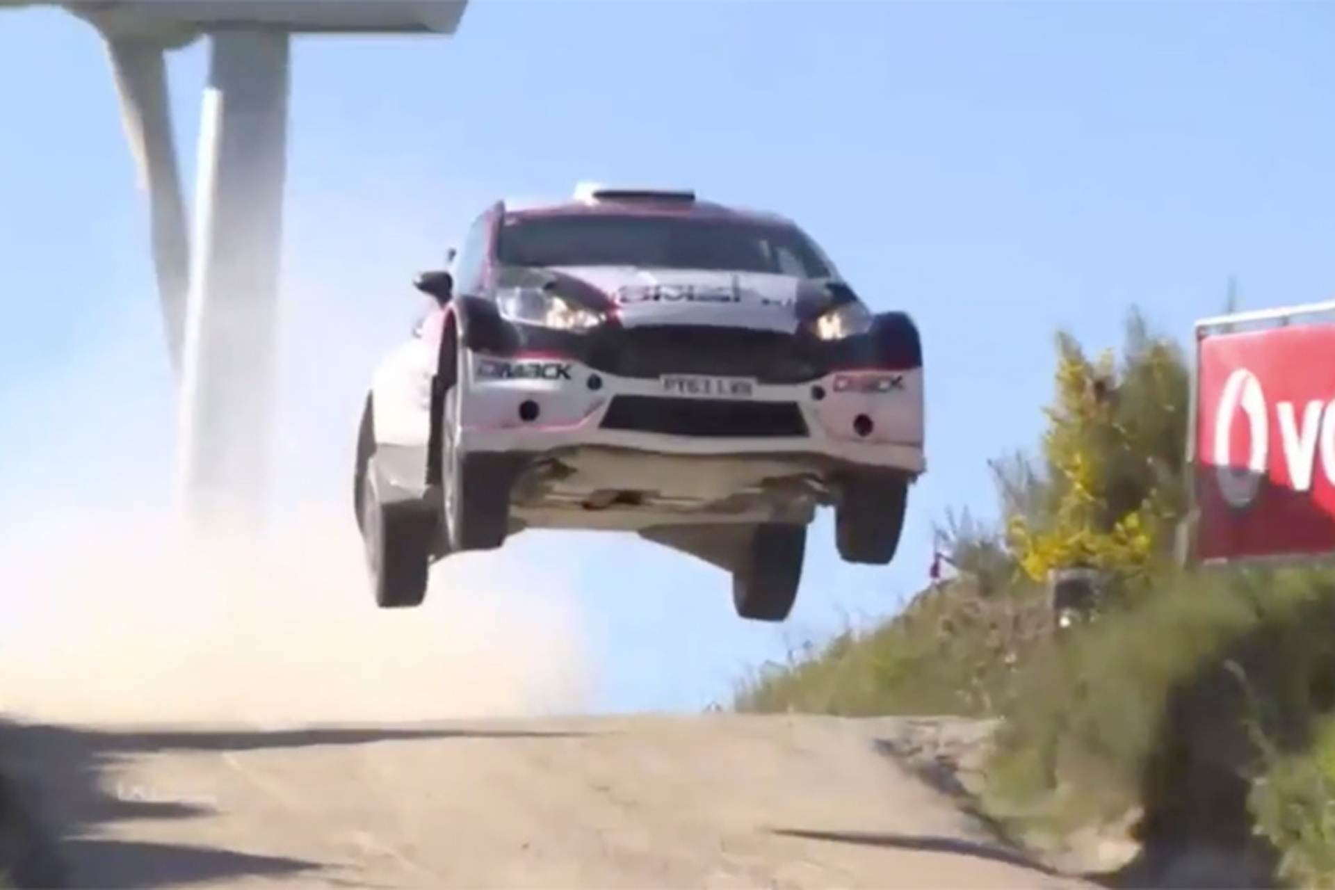 Both Drivers Somehow Safe After This Huge Rally Car Crash