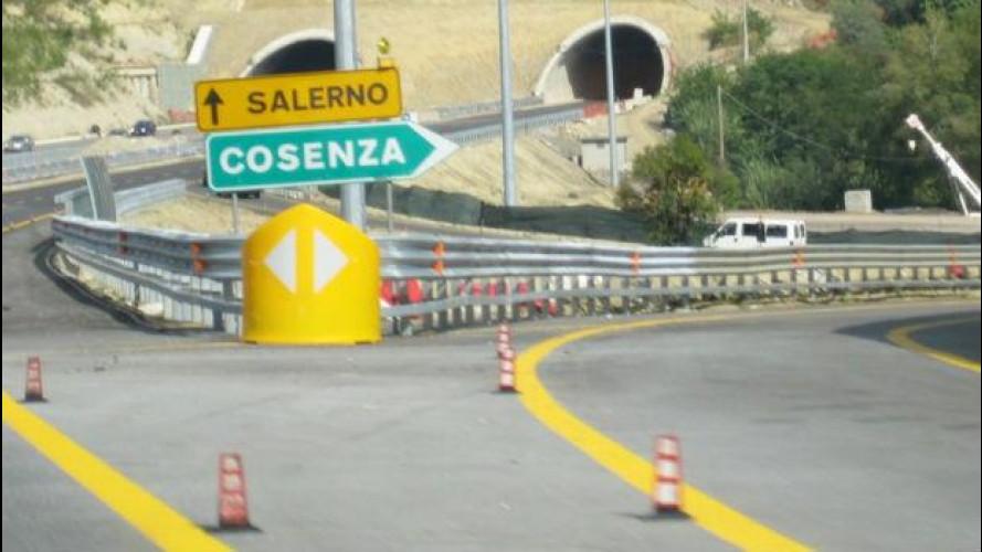 A3 Salerno-Reggio Calabria, rinviata al 26 maggio la chiusura tra Padula e Lagonegro nord