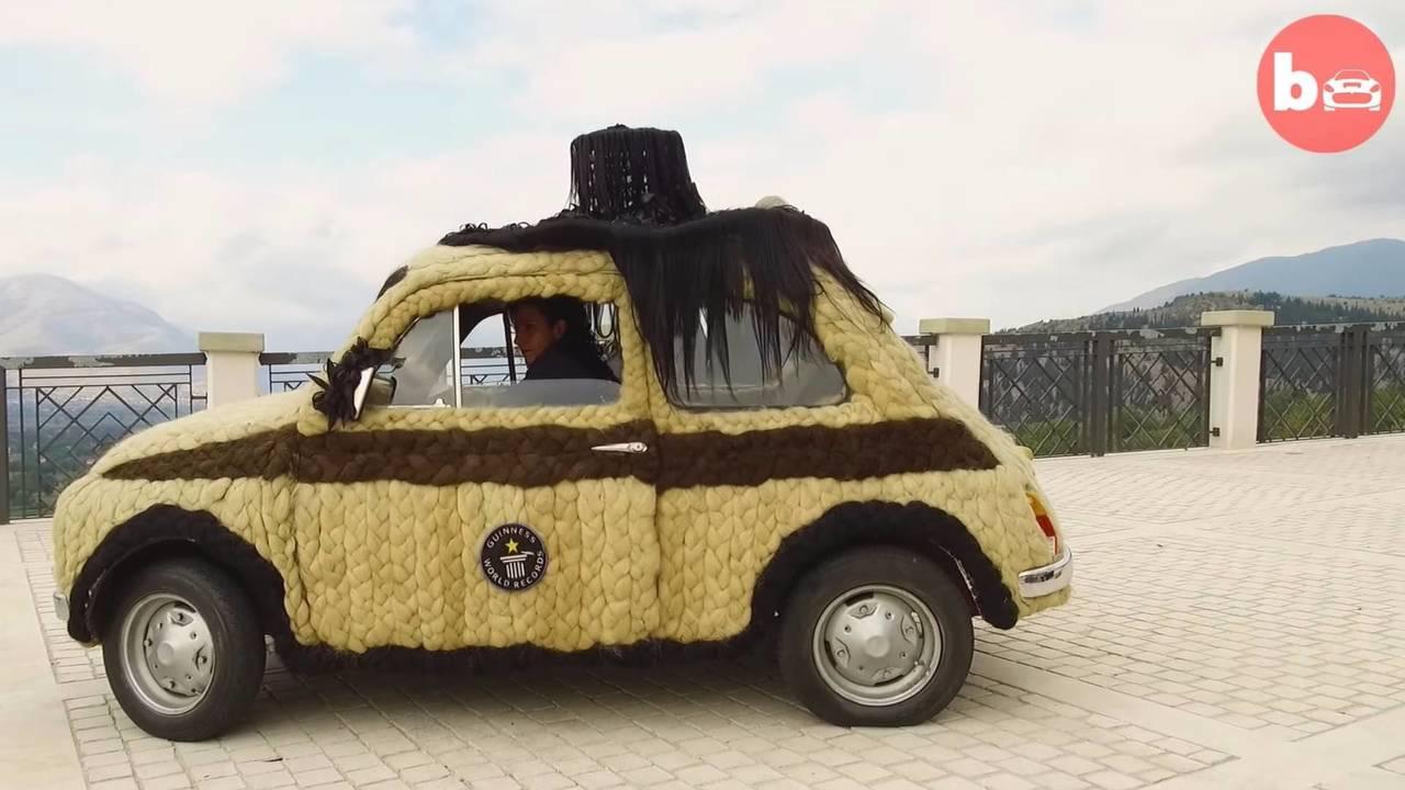 Fiat 500 con lana