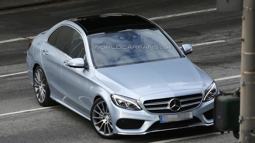 2014 Mercedes-Benz C-Class loses all camo in latest spy pics