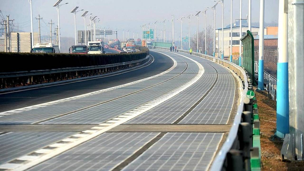 Chine, Route, Énergie solaire,