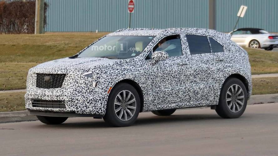 Cadillac XT4 Compact SUV Spied With Its Production Headlights