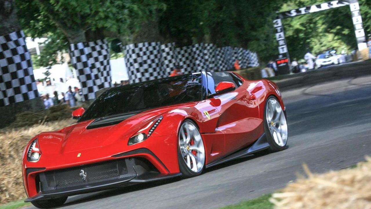 Ferrari F12 TRS live at Goodwood