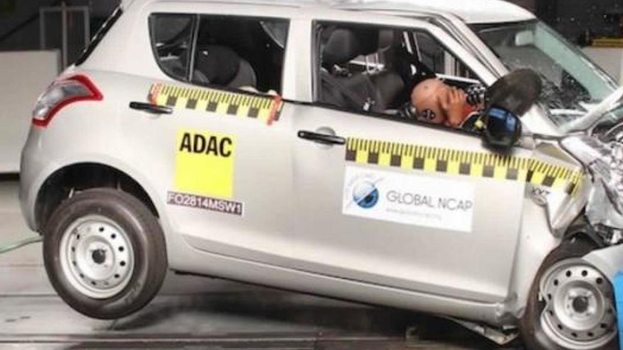 Maruti Suzuki Swift at Bharat NCAP crash test