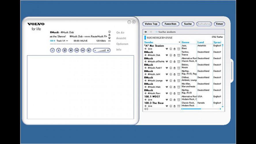 Hier spielt die Musik: Volvo bietet Internet Radio Player an