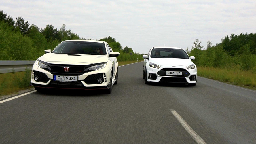 Honda Civic Type R, Ford Focus RS'e karşı