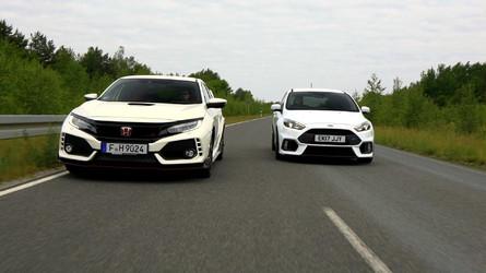 New Honda Civic Type R Versus Ford Focus RS