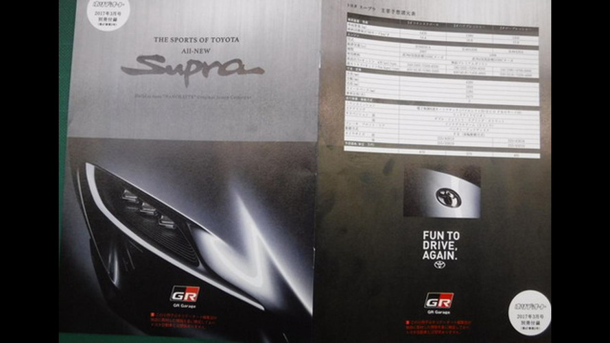 2018 Toyota Supra brochure (not confirmed)
