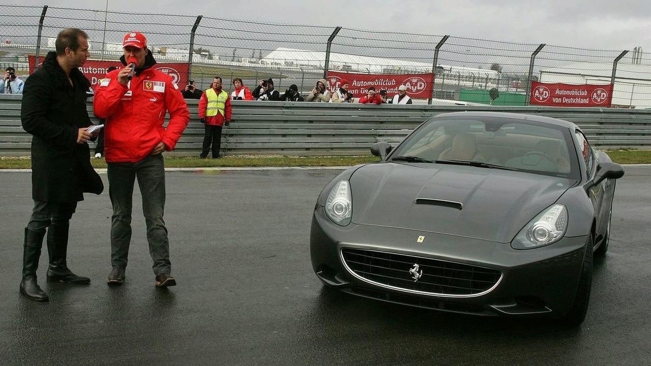 Schumacher Drives Ferrari California at Nurburgring Festival