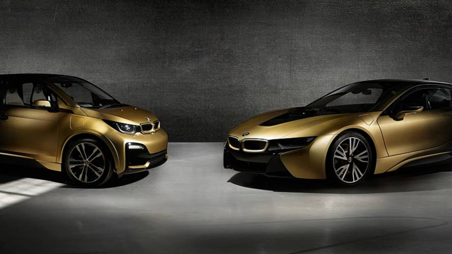 Flashy BMW i3 And i8 Starlight Edition Feature 24-Carat Gold Dust