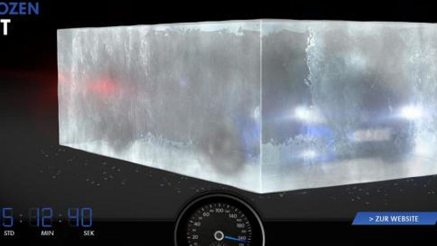 Volkswagen Golf R concept teased in a block of ice