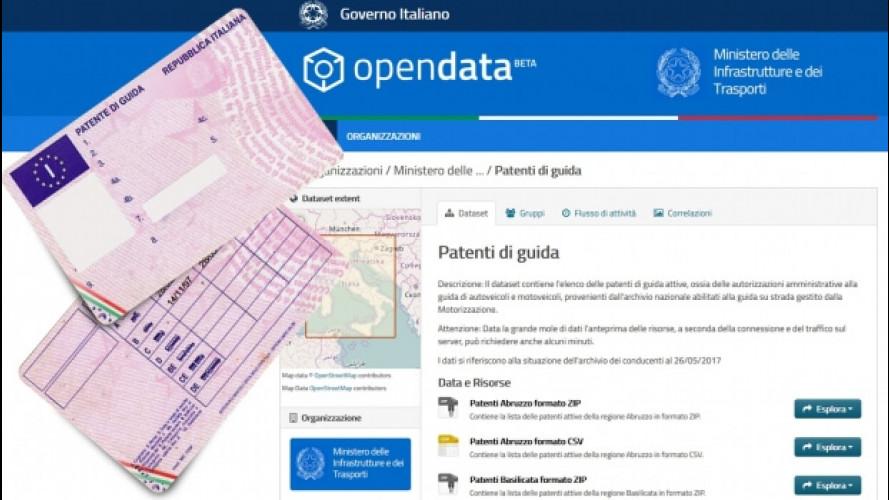 Patente auto, ora c'è l'archivio nazionale online