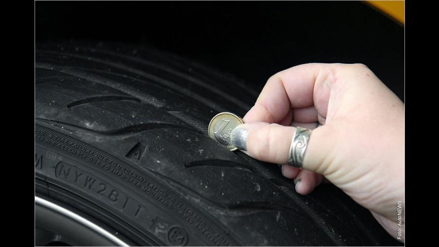 So gefährlich sind alte oder abgefahrene Reifen