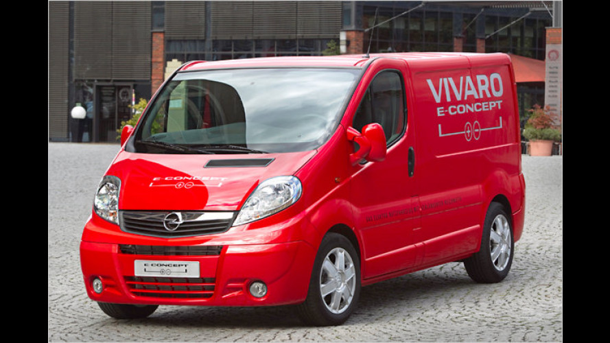 Opel Vivaro e-Concept: Transporter mit Ampera-Antrieb