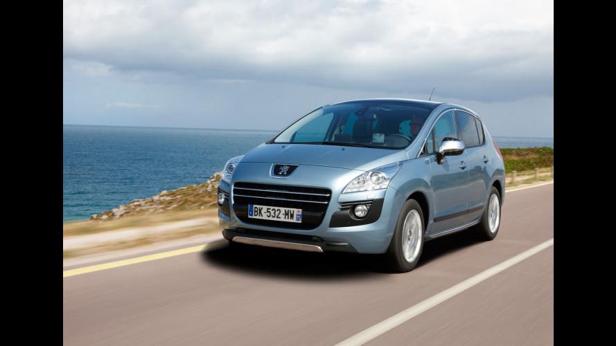 Peugeot 3008 HYbrid4, prezzi da 35.000 euro