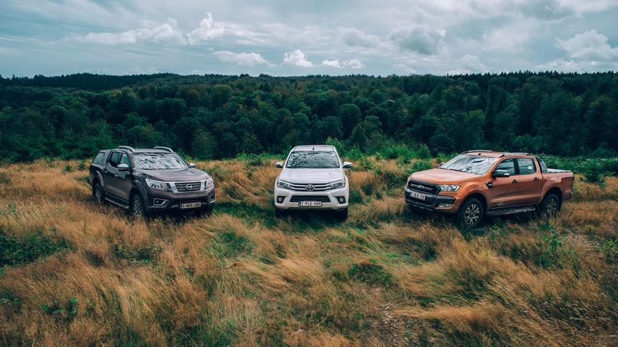 Les Ford Ranger, Nissan Navara et Toyota Hilux au banc d'essai