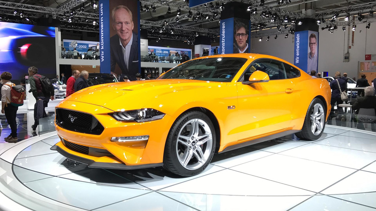 2018 ford mustang arrives in europe with 450 hp. Black Bedroom Furniture Sets. Home Design Ideas