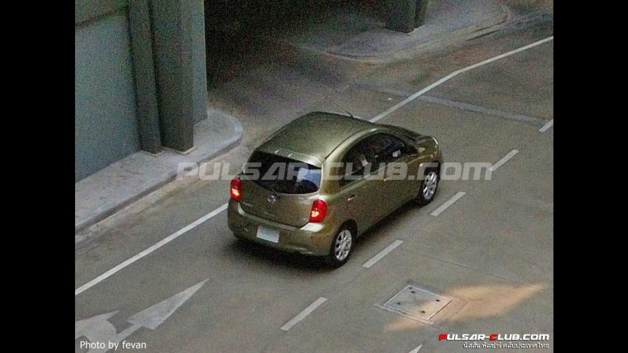 Segredo: Nissan March reestilizado é flagrado sem disfarces