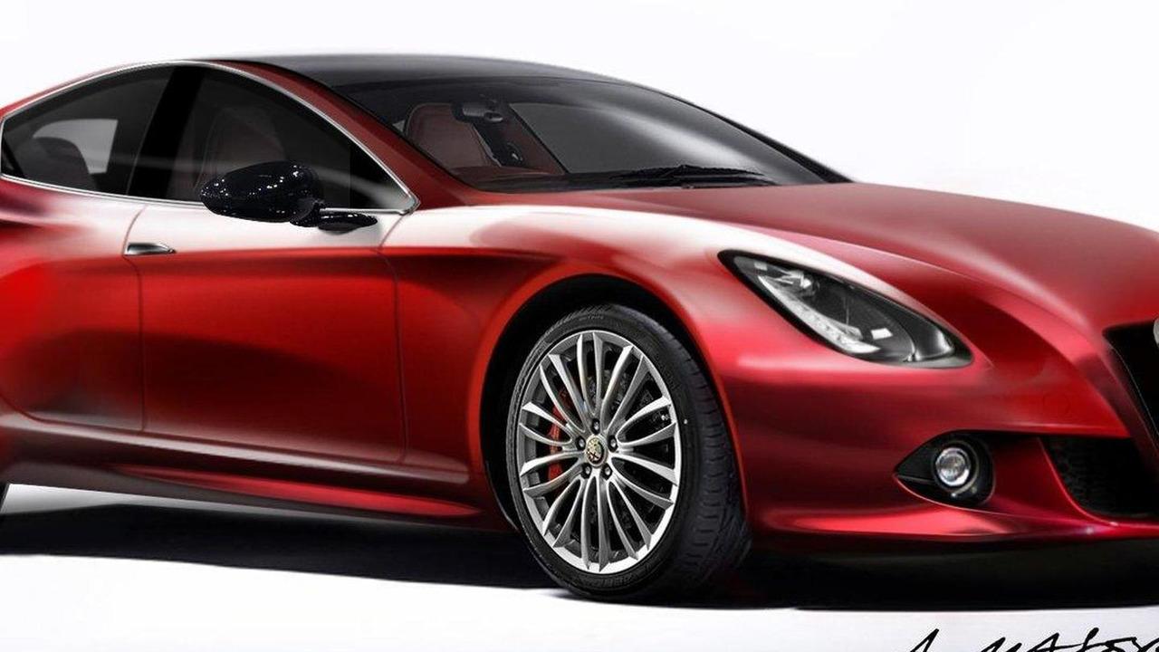 Alfa Romeo Giulia sportwagon speculative renderings 07.01.2012
