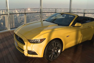 See How Ford Put a Mustang On the World's Tallest Building