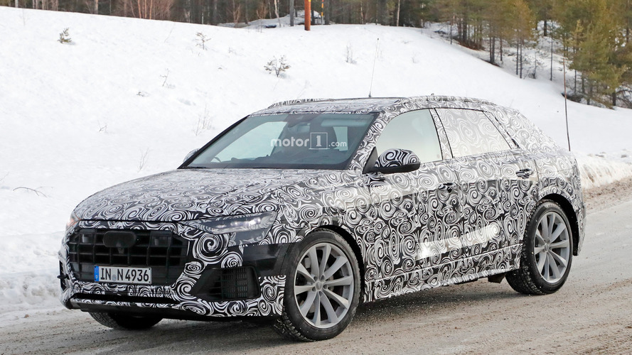 Audi Q8 spied getting a winter workout