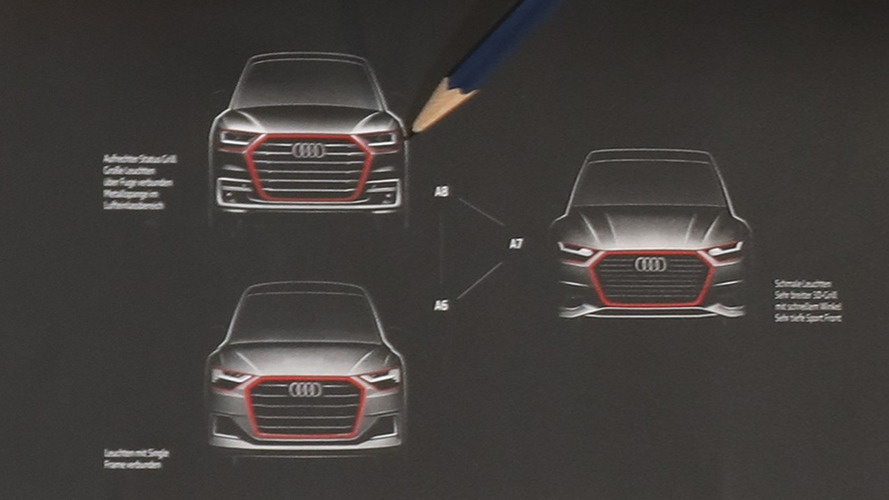 New Audi A8, A7, A6 official sketch reveals evolutionary design