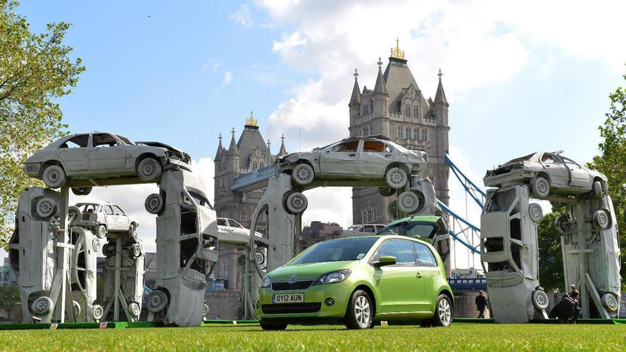 Skoda Citigo UK launch marked by Citihenge art sculpture